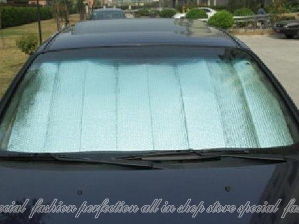 【DQ124】雙面銀色鋁箔氣泡 汽車遮陽板 前擋遮陽簾 斷熱板 隔熱板60X130★EZGO商城★