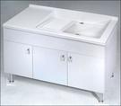 【麗室衛浴】媽媽的好幫手 實心人造石活動式洗衣檯浴櫃組 長120*寬55*高60