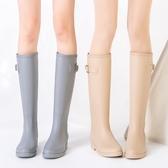 雨鞋S時尚款外穿雨鞋女成人高筒水靴防滑女士水鞋膠鞋雨靴防水鞋 韓國時尚週
