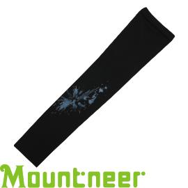 【Mountneer 山林 中性抗UV反光袖套 黑】 11K97/防曬袖套/防曬手套/自行車/機車★滿額送
