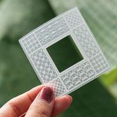 【BlueCat】花織系列網格框框精靈鏤空蕾絲貼紙包