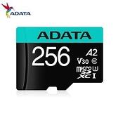 【綠蔭-免運】威剛 Premier Pro microSDXC UHS-I U3 A2 V30 256G記憶卡(附轉卡)