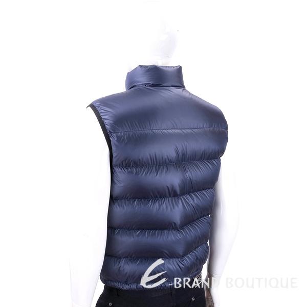 PRADA 三角牌米其林藍色絎縫羽絨背心(男款) 1830053-34
