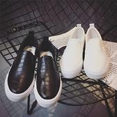 休閒鞋-小白鞋-皮革韓版純色百搭厚底懶人女鞋子2色73no27【巴黎精品】