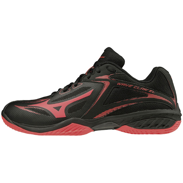 MIZUNO 排羽球鞋 WAVE CLAW EL系列 黑紅 寬楦 71GA208009 贈運動襪 20SS【樂買網】