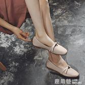 豆豆鞋 小紅人豆豆鞋女平底單鞋方頭奶奶鞋淺口瑪麗珍鞋春秋仙女『鹿角巷』