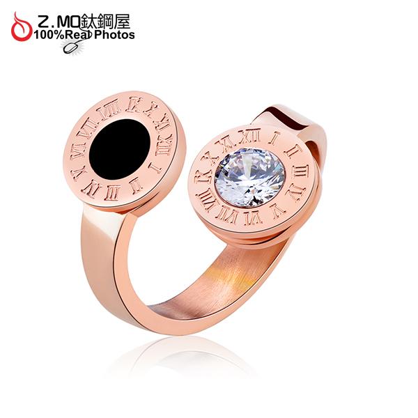 [Z-MO鈦鋼屋]316L白鋼戒指/不生鏽/羅馬數字/甜美夢幻公主風格/簡約單只價【BKS521】