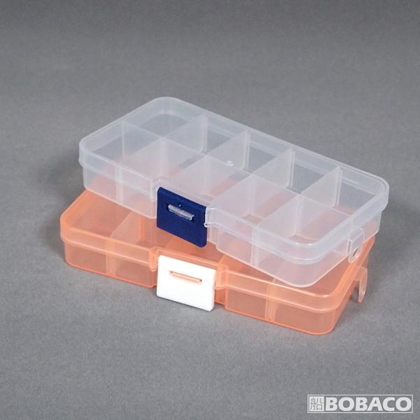 郵寄免運【10格零件收納盒(10入)】隨機出貨 工具零件盒 透明收納盒子 飾品收納盒 藥盒