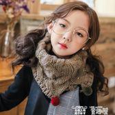 兒童圍巾 兒童秋冬季圍巾男童女童韓版針織毛線保暖寶寶套頭圍脖毛球加厚潮 童趣屋