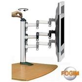 FOGIM 夾桌旋轉式液晶螢幕支架(單螢幕)-終身保固-TKLA-1022-SM