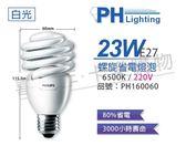 PHILIPS飛利浦 23W 865 白光 230V E27 螺旋省電燈泡 _ PH160060