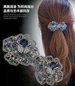發夾復古頭飾頂夾發卡夾子韓國簡約成人發飾品卡子大號彈簧夾頭花 居享優品