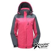PolarStar 女 防風保暖外套 『粉紅』 P17218 戶外│休閒│登山│露營│機能衣│可拆式帽子