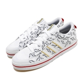 adidas 休閒鞋 Bravada K 白 黃 大童鞋 女鞋 皮卡丘 寶可夢 運動鞋 【PUMP306】 FW3197