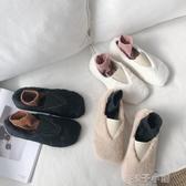 豆豆鞋毛毛鞋女冬外穿新款秋季時尚網紅平底學生正韓百搭豆豆棉瓢鞋 扣子小鋪