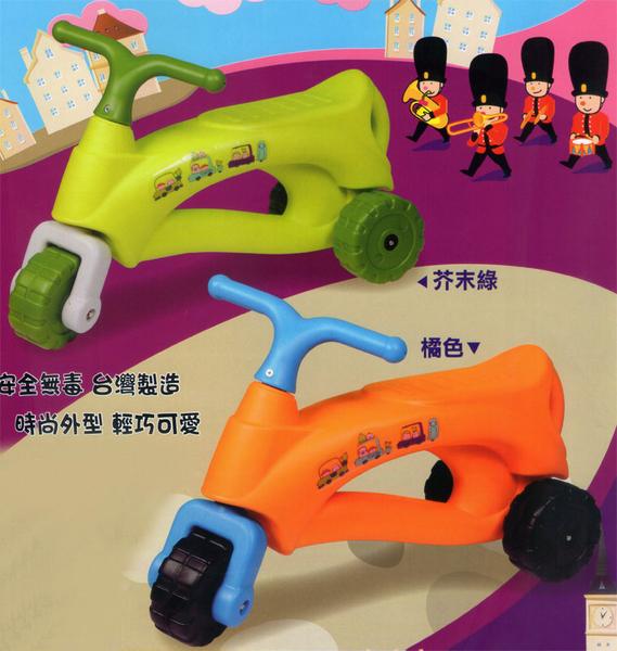 Ching Ching親親-法國號三輪學步車(芥末綠/橘色)CA-22[衛立兒生活館]