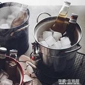 冰桶 沁透整個夏天。雙層帶蓋冰桶鍍鋅鐵皮收納桶酒吧家用創意啤酒桶AQ 有緣生活館