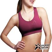 Polarstar 台灣製造 排汗抗菌輕量運動內衣『紫紅』 慢跑│瑜珈│有氧│韻律背心│高穩定支撐 P20134