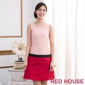 【RED HOUSE 蕾赫斯】無袖蕾絲蛋糕裙洋裝(紅色)