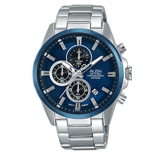 ALBA 競速狂熱運動風計時腕錶/VD57-X081B(AM3345X1)