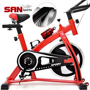 戰神競速飛輪車(皮帶傳動)飛輪健身車公路車自行車訓練機台腳踏車美腿機運動【SAN SPORTS】