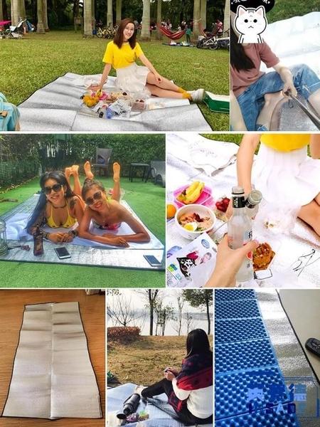 超大3米防潮墊露營鋁膜野餐墊睡墊布帳篷戶外家用野炊【英賽德3C數碼館】
