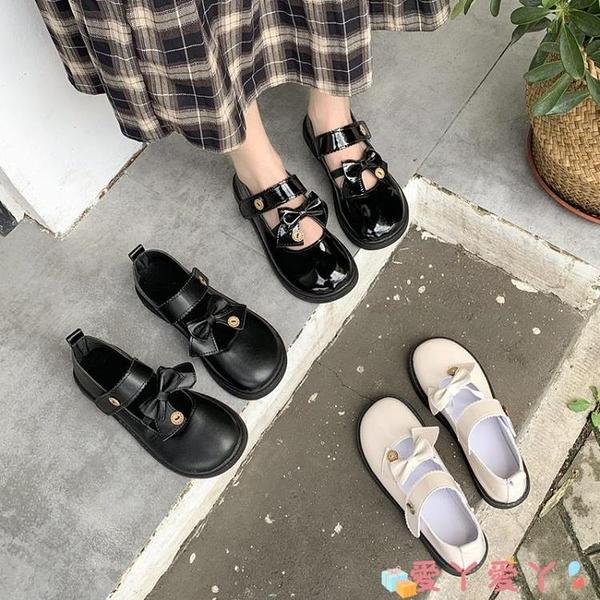 小皮鞋 一腳蹬日系女jk鞋2021春季新款瑪麗珍鞋復古英倫風小皮鞋女配裙子 愛丫 免運