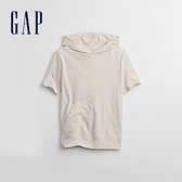 Gap男童 活力運動連帽短袖T恤 720449-燕麥灰