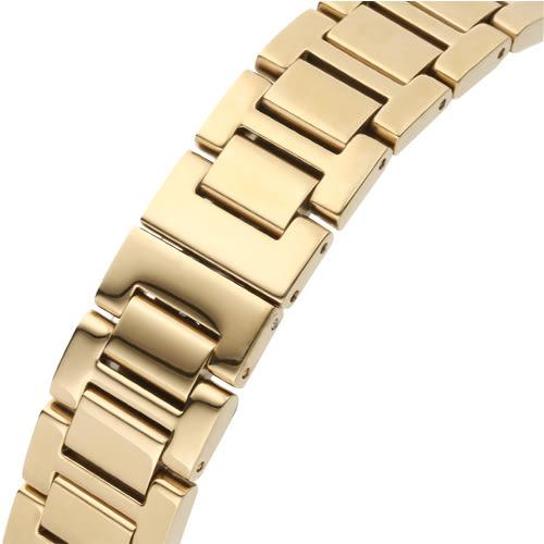 Kappa 羅馬三眼不鏽鋼時尚腕錶-金/33mm
