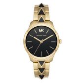 Michael Kors 龐克搖滾個性腕錶-金X黑