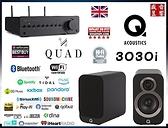 『盛昱音響』英國 Q Acousticcs 3030i 喇叭 + QUAD VENA II PLAY 藍芽綜合擴大機 - 現貨