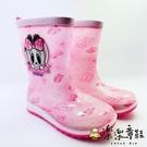 【樂樂童鞋】【台灣現貨】巴布豆卡通防滑雨鞋-粉 C046 - 現貨 雨鞋 女童鞋 大童鞋 小童鞋