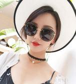 新款網紅墨鏡女韓版潮明星圓臉太陽鏡偏光眼鏡復古原宿風 花間公主
