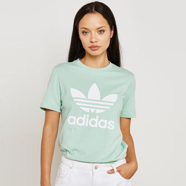 【GT】Adidas Originals 黑綠黃 短袖T恤 女款 運動 休閒 純棉 上衣 短T 愛迪達 基本款 經典款 Logo