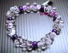 天然白水晶&紫水晶手鍊 ~8型~發發發~...