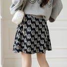 短裙 大擺針織短裙 A字裙 韓國高腰A字裙遮胯半身裙女包臀裙H331快時尚