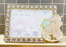 【震撼精品百貨】Little Twin Stars KiKi&LaLa 雙子星小天使~三麗鷗 雙子星相框-下雪#80919