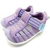 《7+1童鞋》日本 IFME  透氣 魔鬼氈 排水孔 寶寶機能學步鞋 水涼鞋 C470  紫色
