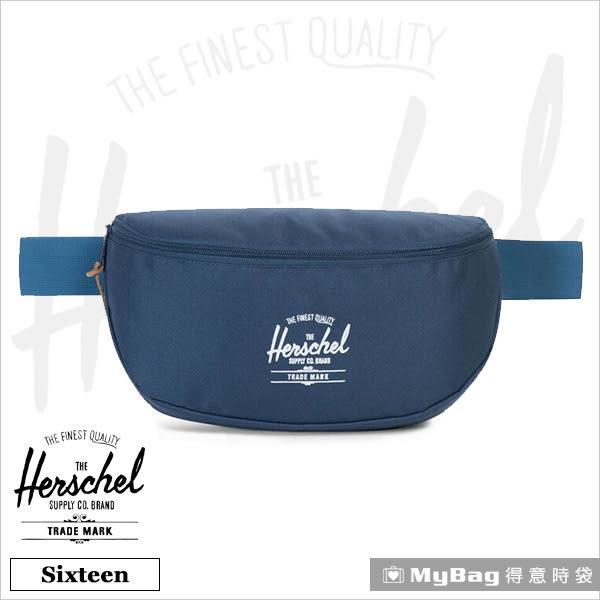 Herschel 腰包 深藍 單肩側背包 Sixteen-1058 MyBag得意時袋
