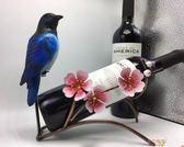 創意仿真鐵藝紅酒架擺件 個性酒吧酒柜裝飾品葡萄酒架酒瓶架酒具 全館八八折鉅惠促銷
