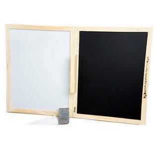 韓國原木可折疊支架雙面黑板