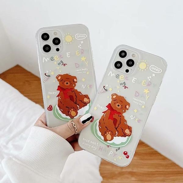 蘋果 iPhone12 Pro Max iPhone11 XS Max XR iPhone8 手機殼 奶油盤小熊 蘋果手機殼 全包邊 保護殼