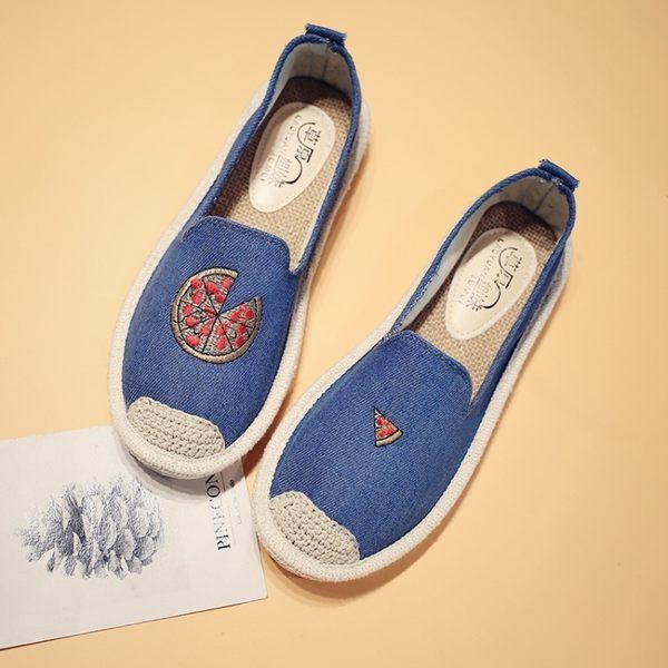 丁果、帆布鞋35-40►小清新俏皮刺繡草編鞋*6色(僅賣現貨)