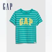 Gap男幼童 Logo透氣圓領短袖T恤 577650-藍綠色
