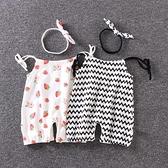 夏季女寶寶吊帶褲薄款 嬰兒吊帶褲子0夏裝3幼兒6個月純棉連身短褲 幸福第一站