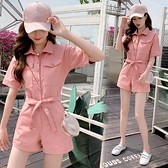 連身褲夏天穿搭女嬌小女裝顯高150cm155瘦小個子網紅洋氣連體短褲套裝xs 艾莎