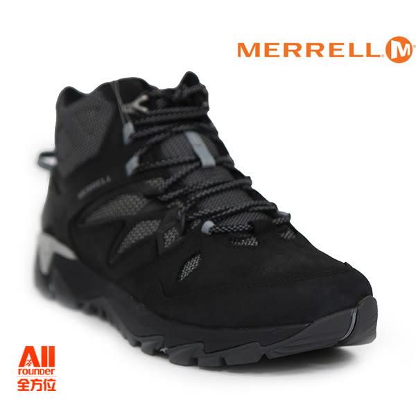 【Merrell】男款 HIKING 郊山健行鞋 ALL OUT BLAZE 2 MID GTX - 夜黑色(09387)【全方位運動戶外館】