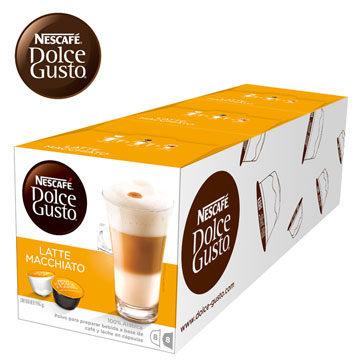 雀巢 新型膠囊咖啡機專用 拿鐵咖啡膠囊 (一條三盒入) 料號 12416324 香醇奶香融入義式濃縮