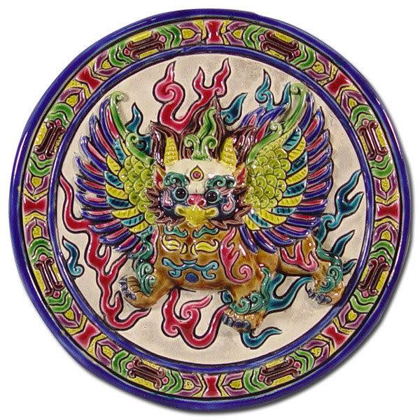 鹿港窯-居家開運商品-台灣國寶交趾陶裝飾壁飾-立體框【金翅鳥】◆附精美包裝◆免運費送到家