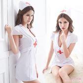 情趣內衣 短袖白色激情女性感護士服開檔緊身小胸透視用品制服套裝騷 DR19873【Rose中大尺碼】